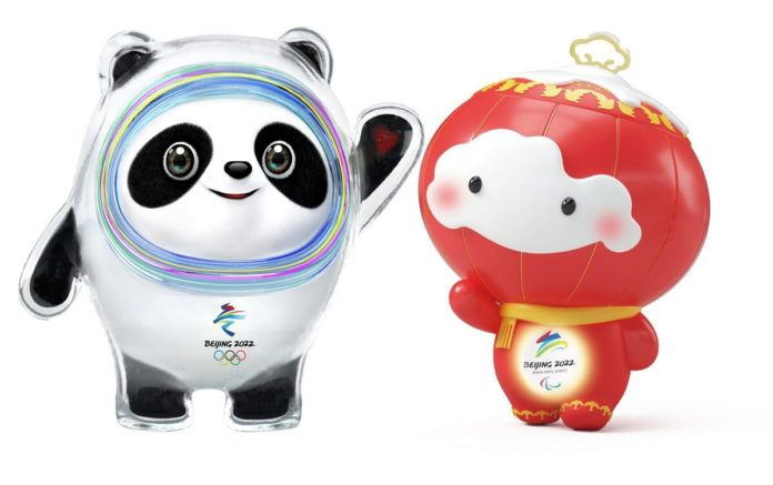 mascotte olimpiadi paralimpiadi pechino 2022